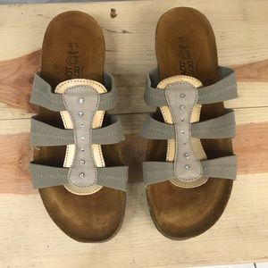 NAOT Israel Leather Sandals Slip on